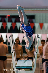 Broughton diving at NC State. December 15, 2017.