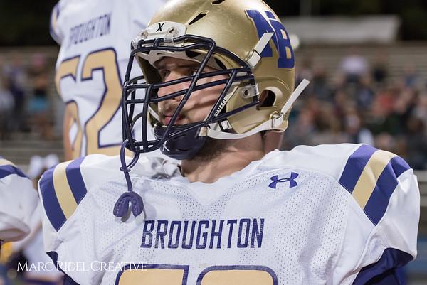Broughton varsity football vs Sanderson. October 27, 2017.