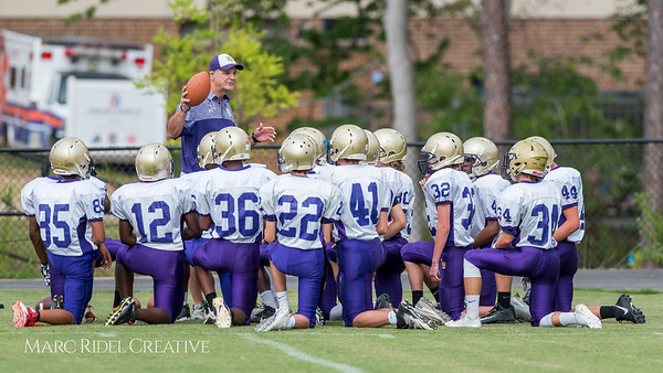 Broughton JV Football vs Athens Drive. August 24, 2017
