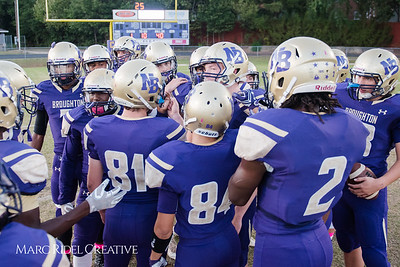 Broughton varsity football vs Cardinal Gibbons. October 20, 2017.