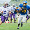 Broughton Football Scrimmages Garner at the Southeast Raleigh Jamboree. August 12, 2017