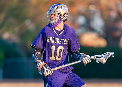 Broughton varsity lacrosse vs Millbrook. March 27, 2019. D4S_5290
