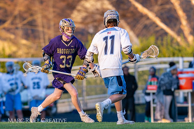 Broughton varsity lacrosse vs Millbrook. March 27, 2019. D4S_5302