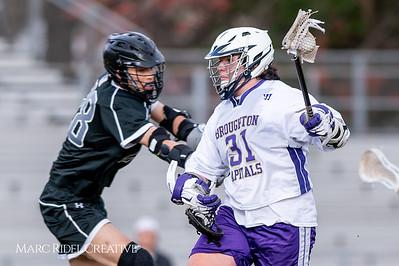 Broughton JV lacrosse vs East Chapel Hill. March 18, 2019. D4S_0540