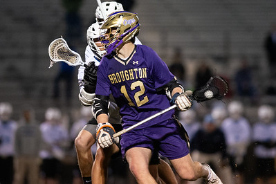 Broughton varsity lacrosse vs Panther Creek. March 4, 2019. D4S_3677