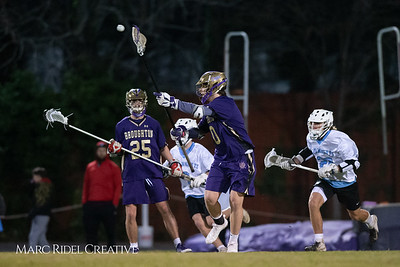 Broughton varsity lacrosse vs Panther Creek. March 4, 2019. D4S_3748