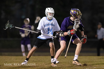 Broughton varsity lacrosse vs Panther Creek. March 4, 2019. D4S_3643