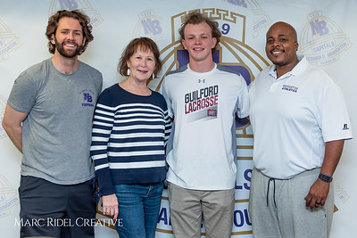 Broughton senior Austin Rohweder signs his commitment letter to play lacrosse for Guilford college. February 7, 2019. 750_2938