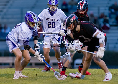 Broughton boys varsity lacrosse vs Middle Creek. February 28, 2020. D4S_0750