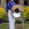 Broughton band marching band uniform senior portraits. May 12, 2021