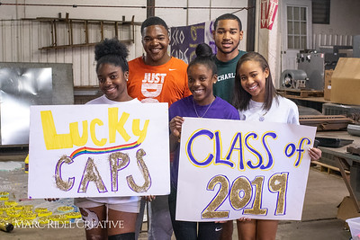 Class of 2019 Homecoming float building. September 29, 2018.