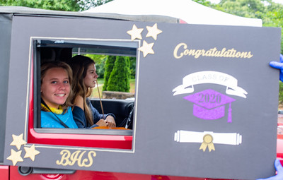 Broughton Class of 2020 senior parade picture frame photos. May 26, 2020.