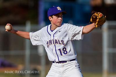 Broughton JV baseball vs Apex. March 15, 2018.