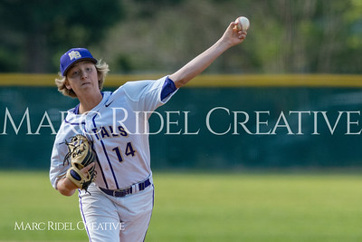 Broughton JV baseball vs. Leesville. April 11, 2018.