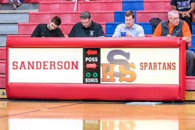 Broughton varsity boys basketball vs Sanderson. January 9, 2018.