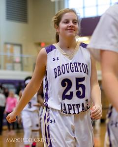 Broughton girl's varsity basketball vs Leesville. January 30, 2018.