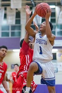 Broughton boy's varsity basketball Senior Night vs. Sanderson. February 6, 2018.
