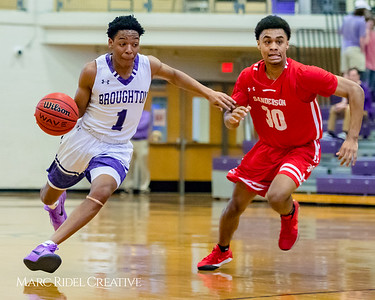 Broughton boy's varsity basketball vs Sanderson. Cap-7 Tournament. February 15, 2018.