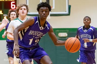 Broughton JV boys basketball vs Cardinal Gibbons. February 7, 2019. MRC_3874
