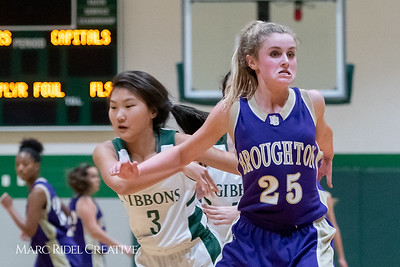 Broughton JV girls basketball vs Cardinal Gibbons. February 7, 2019. 750_3074