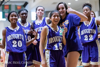 Broughton JV girls basketball vs Cardinal Gibbons. February 7, 2019. 750_3092