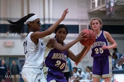Broughton JV girls basketball vs Millbrook. January 22, 2019. 750_5733