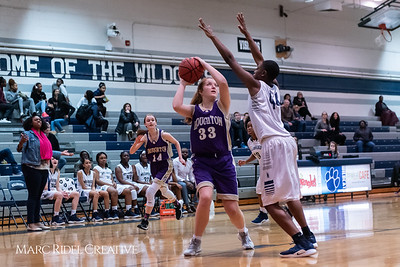 Broughton JV girls basketball vs Millbrook. January 22, 2019. 750_5554