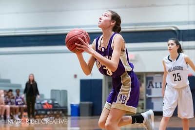Broughton JV girls basketball vs Millbrook. January 22, 2019. MRC_1709