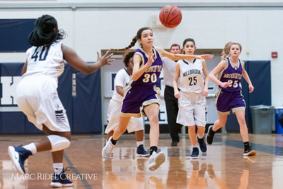 Broughton JV girls basketball vs Millbrook. January 22, 2019. MRC_1700