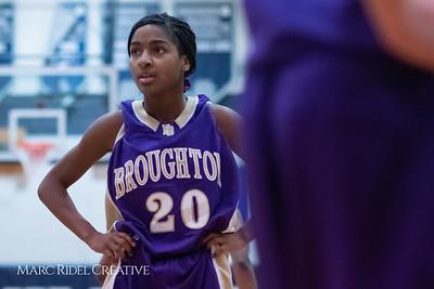 Broughton JV girls basketball vs Millbrook. January 22, 2019. MRC_1805