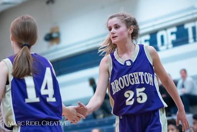 Broughton JV girls basketball vs Millbrook. January 22, 2019. MRC_1804