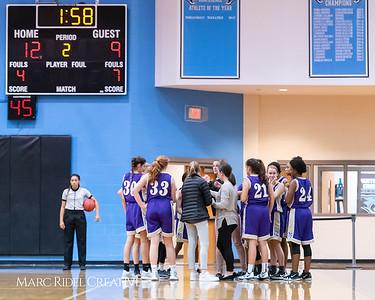 Broughton girls JV basketball at Panther Creek. January 3, 2019. 750_0547