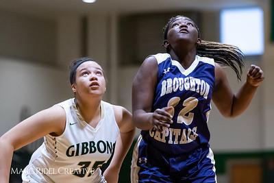 Broughton girls varsity basketball vs Cardinal Gibbons. January 11, 2019. 750_2081