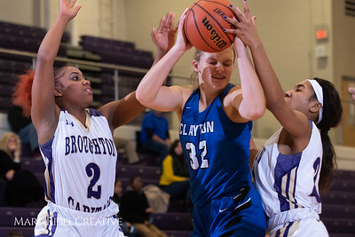 Broughton varsity girls basketball vs Clayton. December 6, 2018, MRC_6343