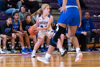 Broughton varsity girls basketball vs Clayton. December 6, 2018, MRC_6385
