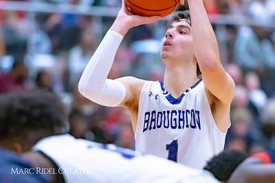 Broughton boys varsity basketball vs Downey Christian. MRC_9025