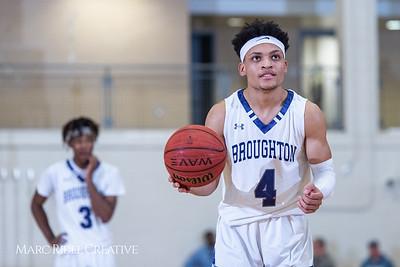 Broughton boys varsity basketball vs Enloe. January 4, 2019. 750_1282