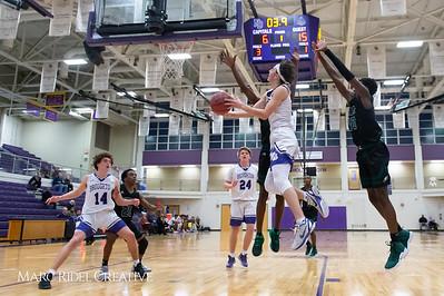 Broughton boys varsity basketball vs Enloe. February 19, 2019. D4S_0063