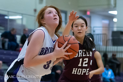 Broughton JV girls basketball vs Green Hope. December 4, 2018, MRC_5667