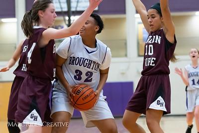 Broughton JV girls basketball vs Green Hope. December 4, 2018, MRC_5593