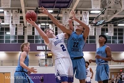Broughton varsity basketball vs Green Hope. November 20, 2018, MRC_8425