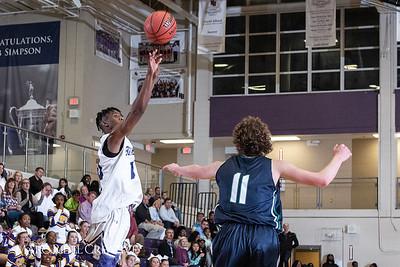 Broughton boys varsity basketball vs. Leesville. January 8, 2019. 750_1813