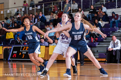 Broughton girls varsity basketball vs Millbrook. February 15, 2019. 750_7357