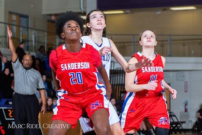 Broughton girls JV basketball vs Sanderson. February 11, 2019. 750_5303