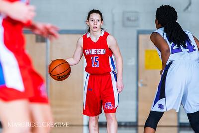 Broughton girls JV basketball vs Sanderson. February 11, 2019. 750_5361