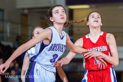 Broughton girls JV basketball vs Sanderson. February 11, 2019. 750_5350