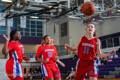 Broughton girls JV basketball vs Sanderson. February 11, 2019. 750_5290