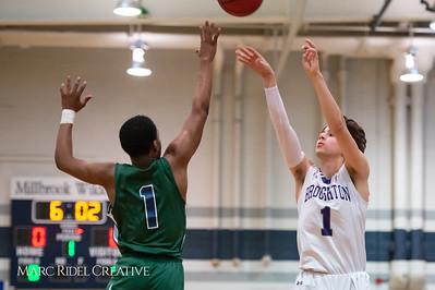 Broughton boys varsity basketball vs Southeast Raleigh. Cap-7 semi-finals at Millbrook. February 21, 2019. D4S_0578