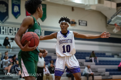 Broughton boys varsity basketball vs Southeast Raleigh. Cap-7 semi-finals at Millbrook. February 21, 2019. D4S_0582