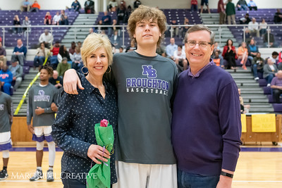 Broughton basketball senior night and Coach Farrell appreciation. February 15, 2019. 750_7427